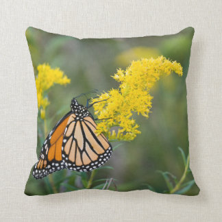Monarch on Goldenrod Cushion
