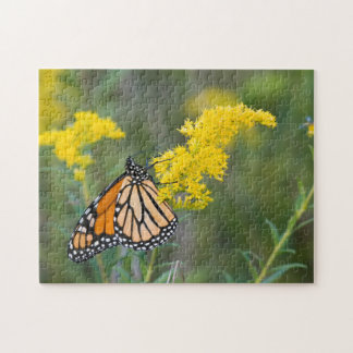 Monarch on Goldenrod Jigsaw Puzzle