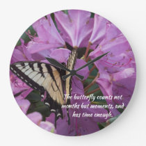 Monarch on Rhododendron clock