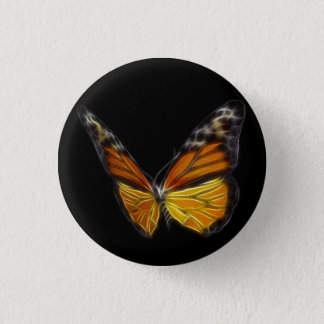 Monarch Orange Butterfly Flying Insect 3 Cm Round Badge