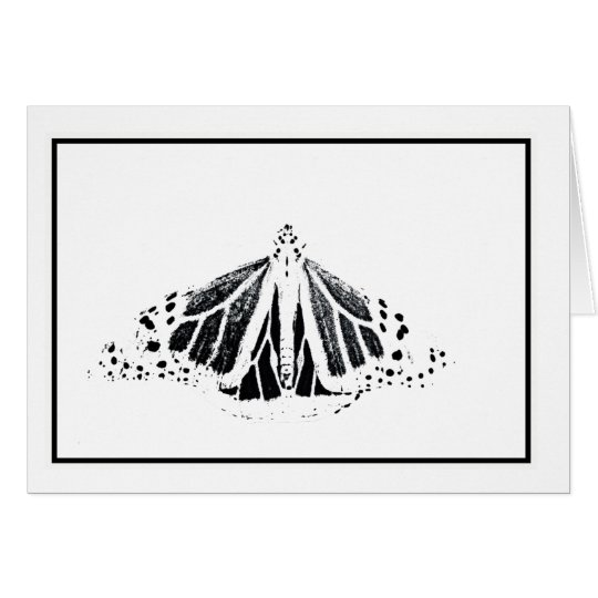 Monarch outline card