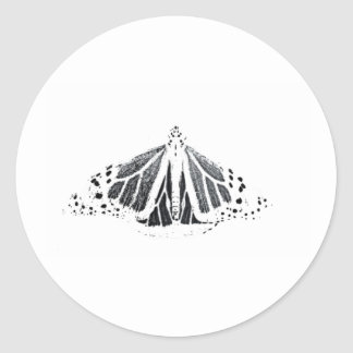 Monarch outline classic round sticker