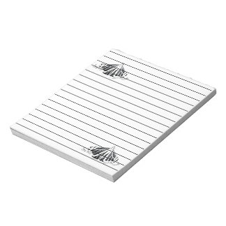 Monarch outline notepad