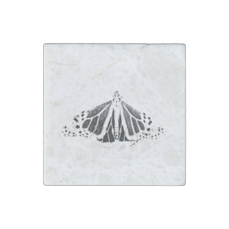Monarch outline stone magnet