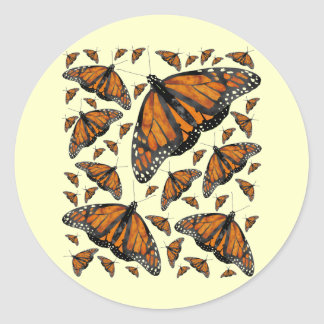 Monarch Rain Classic Round Sticker
