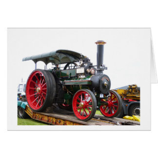 Monarch traction engine greeting card