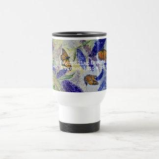 Monarch Watercolor Art Travel Mug
