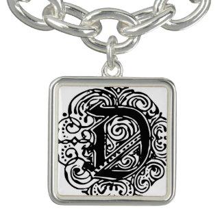 "Monarchia Black ""D"" Charm Bracelet Bracelet"