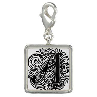 "Monarchia Black Letter ""A"" Charm"
