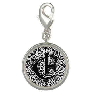 "Monarchia ""E"" Round Charm Photo Charms"