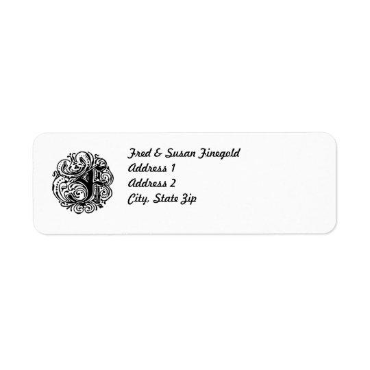 "Monarchia ""F"" Return Address Label"