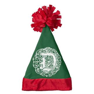 Monarchia White Letter D Santa Hat