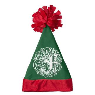 Monarchia White Letter F Santa Hat