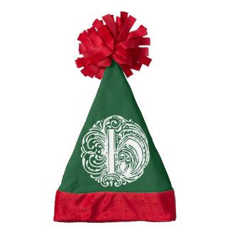 Monarchia White Letter H Santa Hat