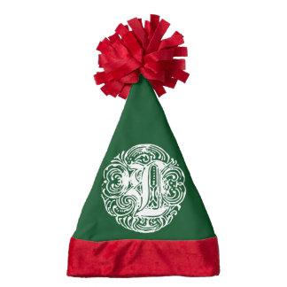 Monarchia White Letter L Santa Hat
