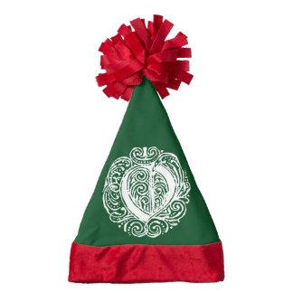 Monarchia White Letter O Santa Hat