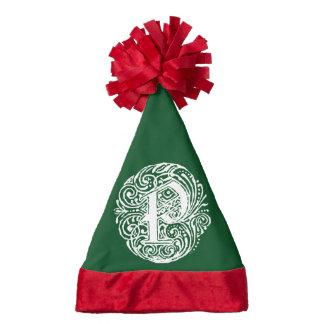 Monarchia White Letter P Santa Hat