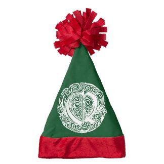 Monarchia White Letter Q Santa Hat