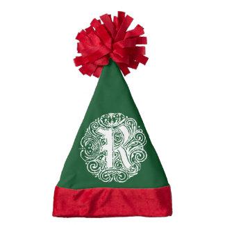 Monarchia White Letter R Santa Hat