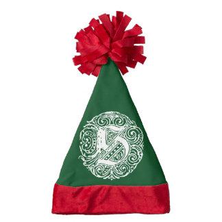 Monarchia White Letter S Santa Hat