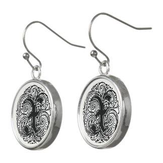 """Monarchia """"X"""" Monogram Drop Earrings"""