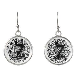 """Monarchia """"Z"""" Monogram Drop Earrings"""