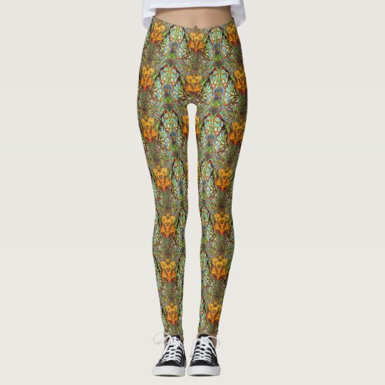 Monarchs Hearts and Stars Patterned Leggings
