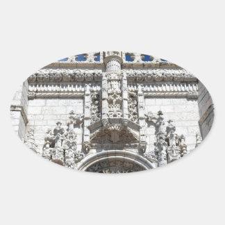 Monastery Hieronymites Oval Sticker