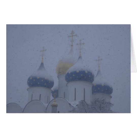 Monastery in Snow Card