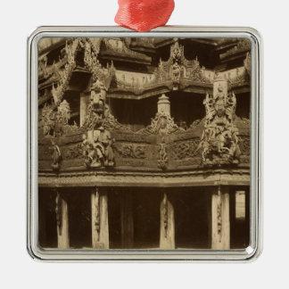 Monastery or Pagoda, detail, probably Mandalay Christmas Ornament