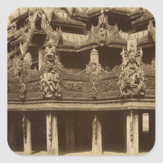 Monastery or Pagoda, detail, probably Mandalay Square Sticker