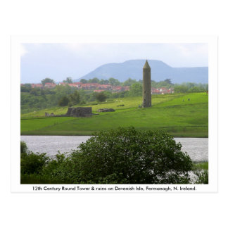 Monastic Tower Ruins Devenish Island Postcards