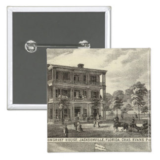 Moncrief House, Jacksonville 15 Cm Square Badge