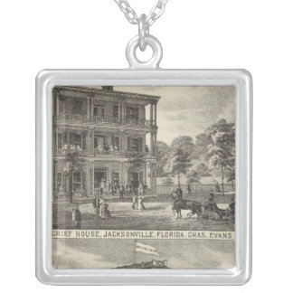 Moncrief House, Jacksonville Silver Plated Necklace