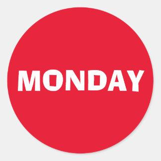 Monday Ad Lib Red Sticker by Janz