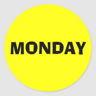 Monday Ad Lib Yellow Sticker by Janz