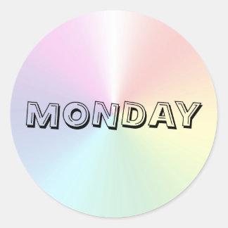 Monday Alphabet Soup Shimmer Sticker by Janz