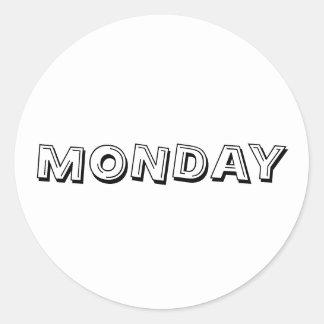 Monday Alphabet Soup White Sticker by Janz