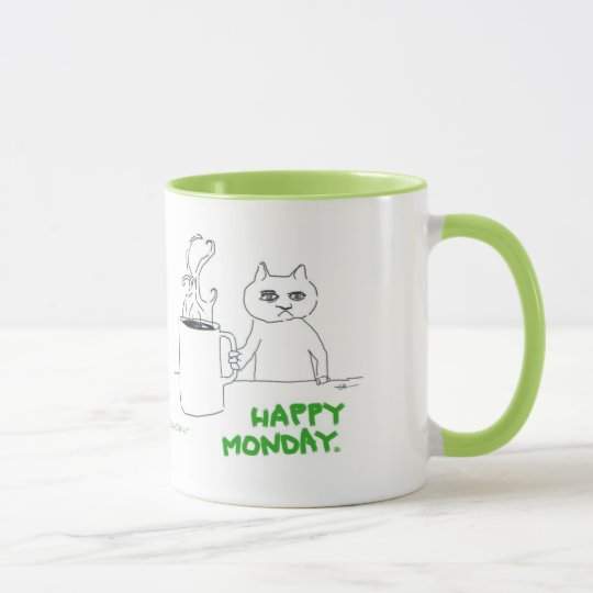 Monday Cat Comic Mug