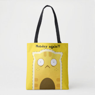 Monday Cat tote bag