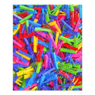 Monday Clothing Pins Multicolor Home Texture 11.5 Cm X 14 Cm Flyer