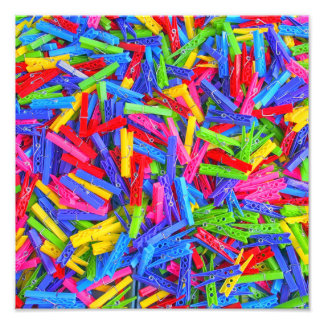 Monday Clothing Pins Multicolor Home Texture Photo Art