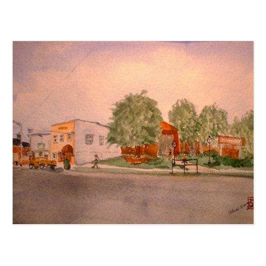"""""""Monday Morning in Munfordville"""" Postcard"""
