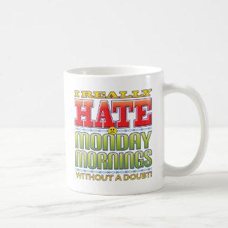 Monday Mornings Hate Face Coffee Mugs