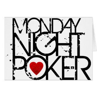 Monday Night Poker Card