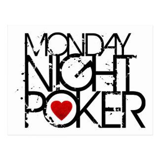 Monday Night Poker Postcard