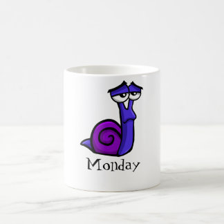 Monday Sad Snail Coffee Mug