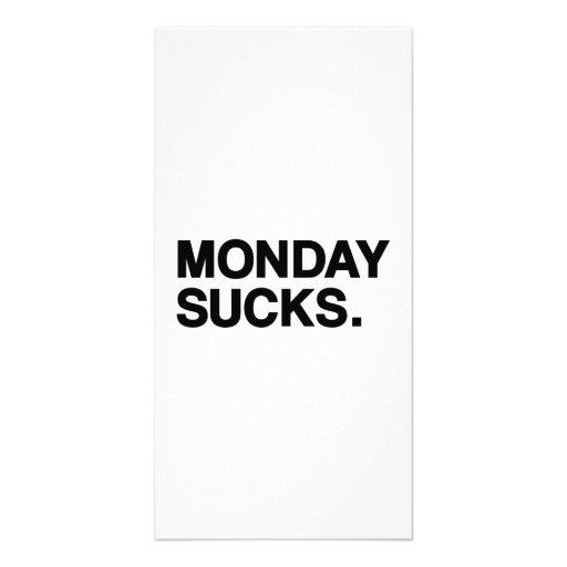Monday sucks photo card