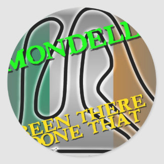 Mondello - Been There Done That Round Sticker