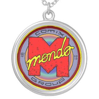 Mondo Bling Round Pendant Necklace